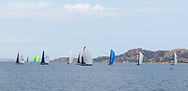 The fleet of the Rolex Maxi Cup 2017, Costa Smeralda, Porto Cervo Yacht Club Costa Smeralda (YCCS), Sardinia, Italy.