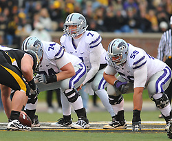 Nov 13, 2010; Columbia, MO, USA; Kansas State Wildcats quarterback Collin Klein (7) goes under center in the second half against the Missouri Tigers at Memorial Stadium. Missouri won 38-28. Mandatory Credit: Denny Medley-US PRESSWIRE