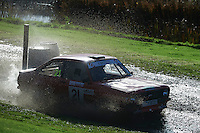 #21 Ian Hucklebridge / Gary Johnson Ford Escort Mk2 Bolton-le-Moors SMA Stoke Mandeville Autocentre during Neil Howard Memorial Stage Rally, and opening round of the 2015 Motorsport News Rally Championship.  at Oulton Park, Little Budworth, Cheshire, United Kingdom. November 07 2015. World Copyright Peter Taylor. Copy of publication required for printed pictures.  Every used picture is fee-liable. http://archive.petertaylor-photographic.co.uk
