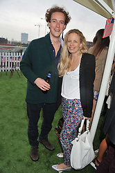 TOM INSKIP and ASTRID HARBORD at Inception Group's Hamptons Garden Party to celebrate their collaboration with Embassy Gardens 2016 held at the Ballymore Marketing Suite, Nine Elms Lane, London on 12th July 2012.