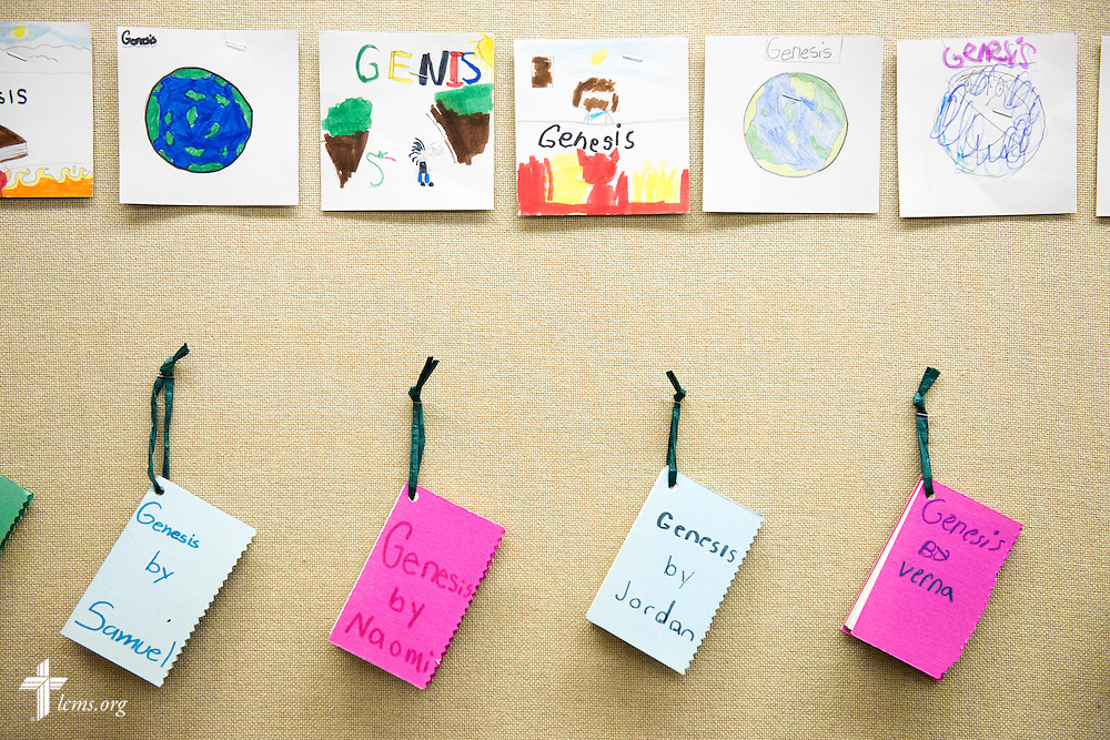Artwork designed by students at Lutheran Special School & Education Services, located in Milwaukee Lutheran High School, is displayed at the school on Tuesday, May 19, 2015, in Milwaukee, Wis. LCMS Communications/Erik M. Lunsford