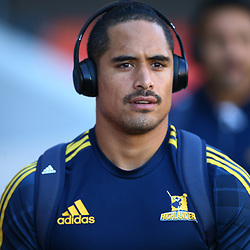 DURBAN, SOUTH AFRICA - MAY 05: Aaron Smith of the Pulse Energy Highlanders during the Super Rugby match between Cell C Sharks and Highlanders at Jonsson Kings Park Stadium on May 05, 2018 in Durban, South Africa. (Photo by Steve Haag/Gallo Images)