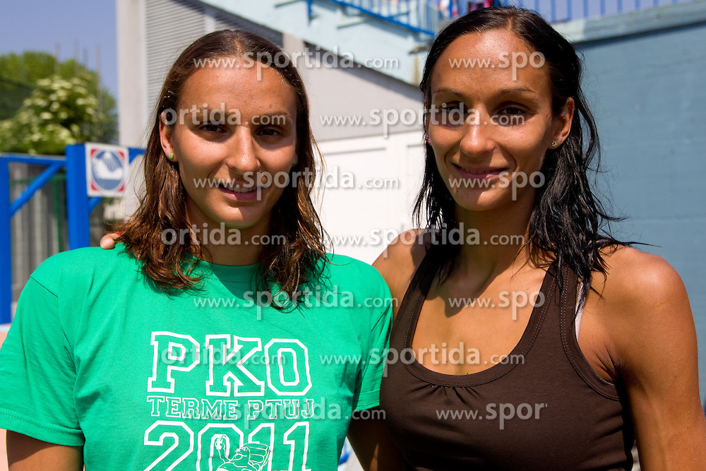 Nina and Maja Sovinek of PK Olimpija  at 36 International swimming meeting City of Ljubljana Cup, on May 21, 2011 in Kodeljevo pool, Ljubljana, Slovenia. (Photo By Vid Ponikvar / Sportida.com)