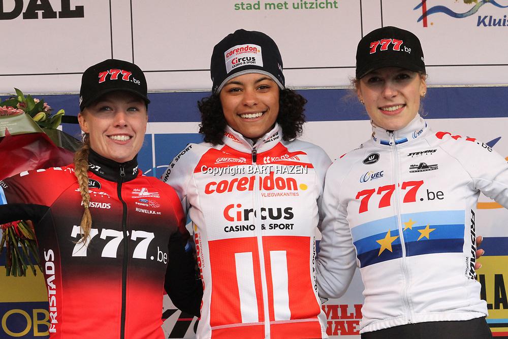 14-12-2019: Wielrennen: DVV trofee veldrijden: Ronse: Ceylin Alvarado wint in Ronse voor Annemarie Worst en Yara Kastelijn