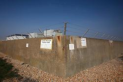 UK ENGLAND DUNGENESS 24MAR12 - Perimeter wall surrounding the Dungeness nuclear power station on the Kent coast.....jre/Photo by Jiri Rezac....© Jiri Rezac 2012