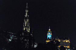 To commemorate the anniversary of the death of Sir Walter Scott, the famous Scott Monument on Edinburgh's Princes Street has been relit following a refit of the lighting.<br /> <br /> The structure has been floodlit in previous years but the new LED system - designed by KSLD - is the first bespoke lighting to be installed. The state-of-the-art design highlights the Monument's intricate architectural features with a soft warm glow, allowing the landmark to shine as part of Edinburgh's night skyline.