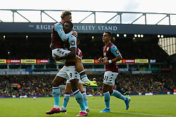Wesley of Aston Villa scores and celebrates - Mandatory by-line: Phil Chaplin/JMP - 05/10/2019 - FOOTBALL - Carrow Road - Norwich, England - Norwich City v Aston Villa - Premier League