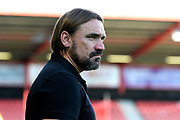 Norwich City manager Daniel Farke on arrival ahead of the Premier League match between Bournemouth and Norwich City at the Vitality Stadium, Bournemouth, England on 19 October 2019.
