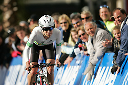 (Geelong, Australia---29 September 2010)  Vicki Whitelaw of Australia powers to the finish in the Elite Women's Time Trial at the 2010 UCI Road World Championships held in Geelong, Victoria, Australia. [2010 Copyright Sean Burges / Mundo Sport Images -- www.mundosportimages.com]