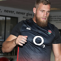 Brad Shields of England during the England Rugby strength work in the gym training session at Jonsson Kings Park Stadium,Durban.South Africa. 12,06,2018 Photo by (Steve Haag JMP)