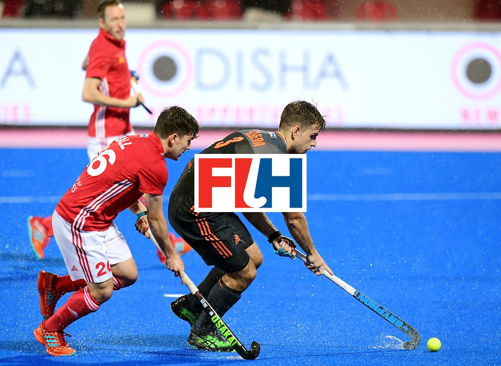 Odisha Men's Hockey World League Final Bhubaneswar 2017<br /> Match id:17<br /> England v Netherlands<br /> Foto: James Gall (Eng) and Tristan Algera (Ned) <br /> COPYRIGHT WORLDSPORTPICS FRANK UIJLENBROEK