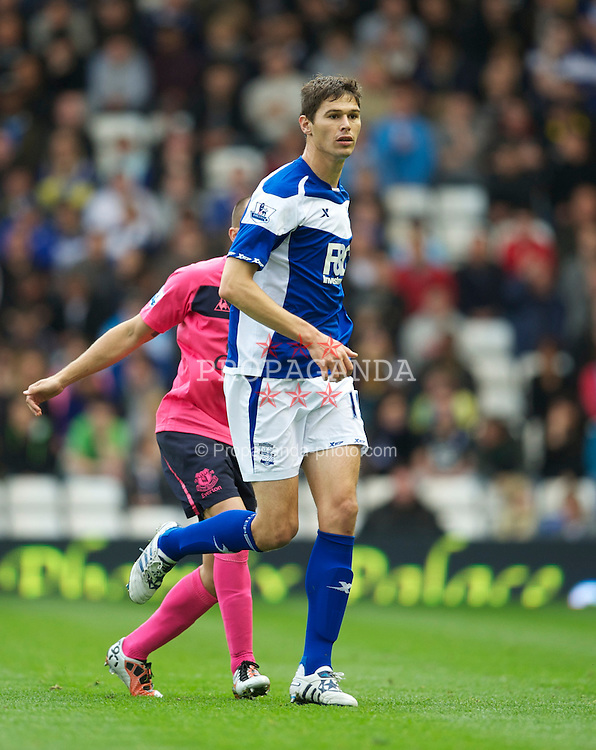 BIRMINGHAM, ENGLAND - Saturday, October 2, 2010: Birmingham City's Nikola Zigic in action against Everton during the Premiership match at St Andrews. (Photo by David Rawcliffe/Propaganda)