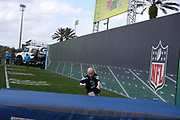 Jan 23, 2019; Kissimmee, FL, USA;  A young cancer survivor runs the 40 yard dash at the 2019 Pro Bowl at ESPN Wide World of Sports Complex. (Kim Hukari/Image of Sport)