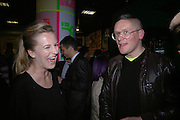 Alannah Weston and Giles Deacon, Future Punk Launch party at Selfridges, Oxford St. : 9th March. ONE TIME USE ONLY - DO NOT ARCHIVE  © Copyright Photograph by Dafydd Jones 66 Stockwell Park Rd. London SW9 0DA Tel 020 7733 0108 www.dafjones.com
