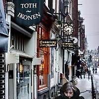 Nederland, Amsterdam , 23 januari 2013..De Nieuwe Spiegelstraat, een straat waar diverse kunsthandelaren zijn gevestigd..Het gaat momenteel niet goed in de kunstwereld als gevolg van de crisis..Foto:Jean-Pierre Jans