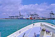 Miami, FL, Gantry Cranes,  Intracoastal Waterway; Port of Miami;  62' Nordhaven; USA, USA, Atlantic Coast