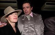 Sophie Conran and Sebastian Horsley, Erotic Review Party,  Drury Lane, 26 November 2003. © Copyright Photograph by Dafydd Jones 66 Stockwell Park Rd. London SW9 0DA Tel 020 7733 0108 www.dafjones.com