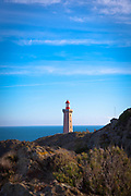 Phare du cap Béar Cape Bear Lighthouse, near Port Vendres, France.