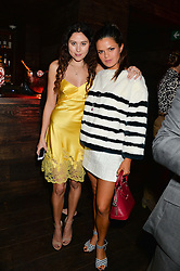 Left to right, ELIZA DOOLITTLE and BIP LING at the Lancôme pre BAFTA party held at The London Edition, 10 Berners Street, London on 14th February 2014.