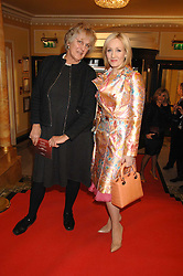 Left to right, GERMAINE GREER and J K ROWLING at the South Bank Show Awards held at The Dorchester, Park Lane, London on 29th January 2008.<br />