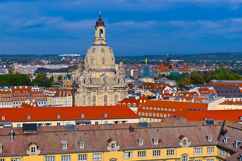 Dome of the Frauenkirche (church), known as the Stone Bell, Dresden, Saxony, Germany