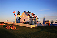 Pemaquid Point Lighthouse At Sunset, Bristol, Maine