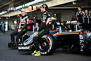 October 29, 2016: Mexican Grand Prix. Nico Hulkenberg (GER), Force India, Sergio Perez (MEX), Force India