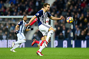 West Bromwich Albion defender Gareth McAuley (23) has eyes on the ball during the Premier League match between West Bromwich Albion and Southampton at The Hawthorns, West Bromwich, England on 3 February 2018. Picture by Dennis Goodwin.