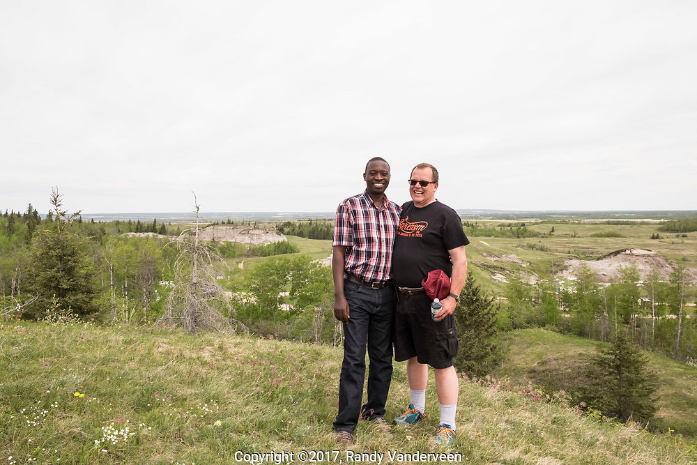 Photo Randy Vanderveen<br /> Grande Prairie, Alberta, Canada<br /> 2017-05-23<br /> Visit by Andre Sibomana and Adrian Gardner