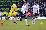 Derby County midfielder Tom Ince (23) during the Sky Bet Championship match between Derby County and Sheffield Wednesday at the iPro Stadium, Derby, England on 21 February 2015. Photo by Aaron Lupton.