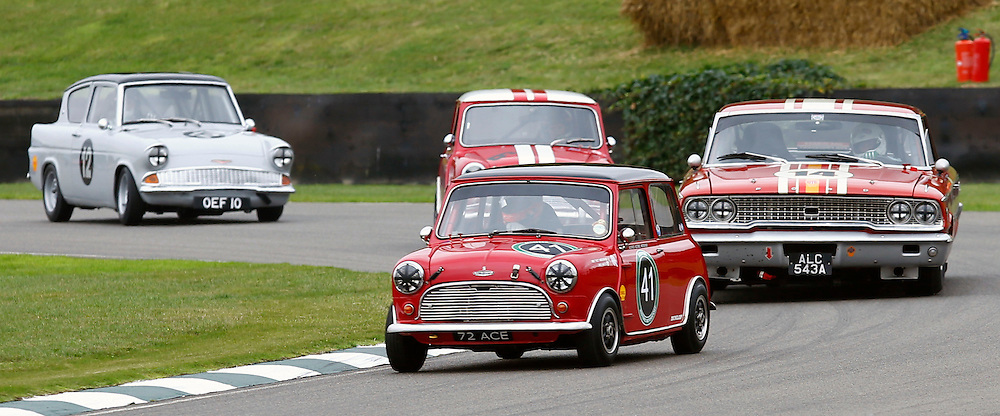 GOODWOOD REVIVAL......James Martin in a 1963 Austin Mini Cooper S competing in the St. Mary's Trophy race part 1...(c) STEPHEN LAWSON | SportPix.org.uk
