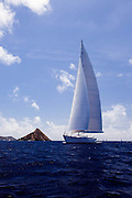 Mirabella V Sailing in the 2011 St. Barths Bucket. Race 2.