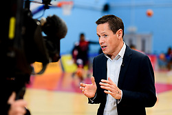 BBC Points West broadcast Live courtside from SGS Arena - Photo mandatory by-line: Ryan Hiscott/JMP - 06/12/2019 - BASKETBALL - SGS Wise Arena - Bristol, England - Bristol Flyers v Sheffield Sharks - British Basketball League Championship