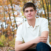 Senior photos of Peter along the Huron River in Ann Arbor, Michigan. Photos by Melanie Maxwell