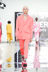June 8, 2019 - London, England, United Kingdom - Models present a new Spring/Summer 2020 ICEBERG collection during London Fashion Weak Men's in the old Truman's Brewery show space in London on the June 8, 2019. (Credit Image: © Dominika Zarzycka/NurPhoto via ZUMA Press)
