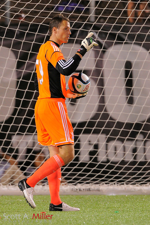 Stoke City Potters goalkeeper Thomas Sørensen (29) during the Potters game against the Orlando City Lions at the Florida Citrus Bowl on July 28, 2012 in Orlando, Florida. Stoke won 1-0...© 2012 Scott A. Miller.