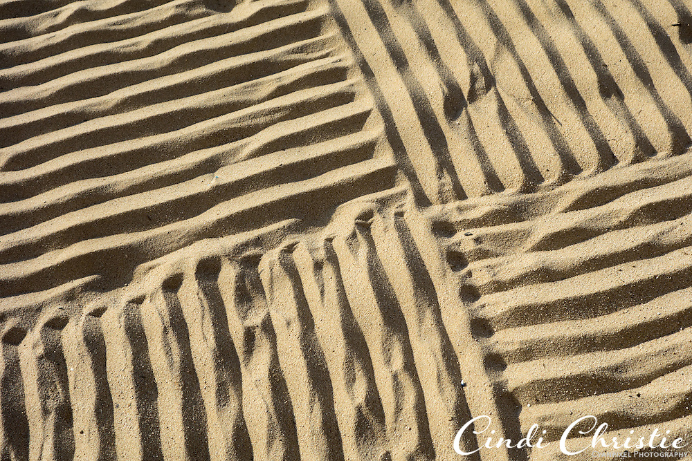 Sand is groomed in the morning, waiting for the first steps at Villa del Palmar resort, Cabo San Lucas. Mexico, on Tuesday, Oct. 23, 2012. (© 2012 Cindi Christie/Cyanpixel)