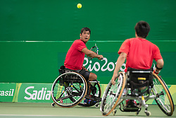 Michael Jeremiasz, Frederic Cataneo, FRA, Tennis Doubles at Rio 2016 Paralympic Games, Brazil