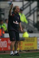 Photo: Steve Bond/Richard Lane Photography. Derby County v Sheffield United. Coca-Cola Championship. 13/09/2008. Kevin Blackwell expresses urgency