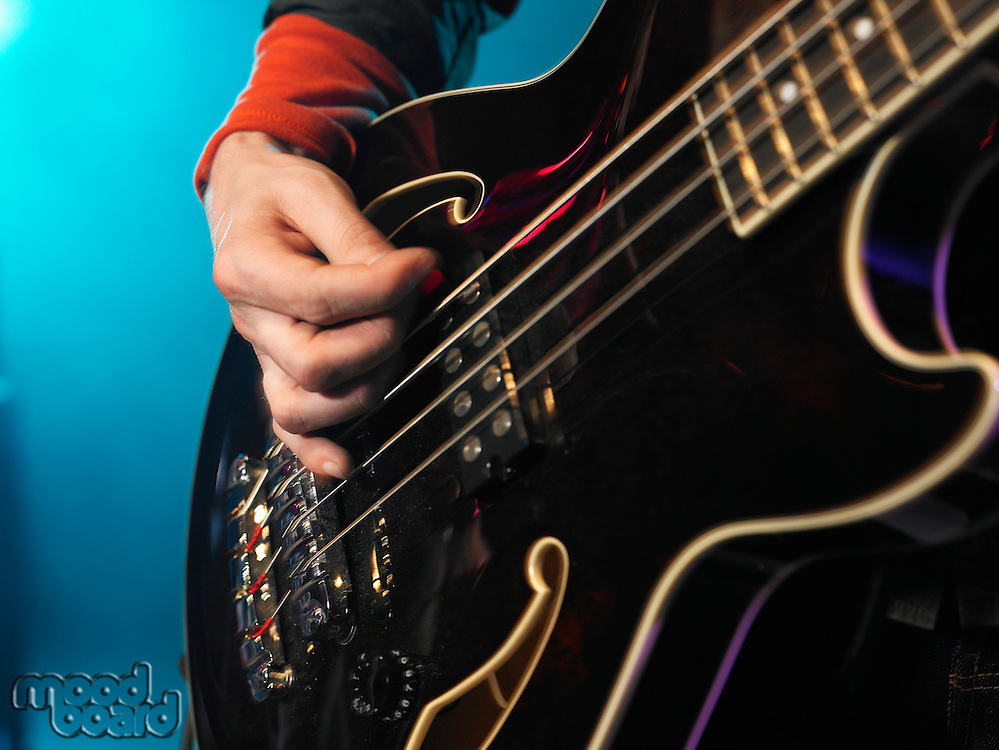 Bass Guitarist Performing