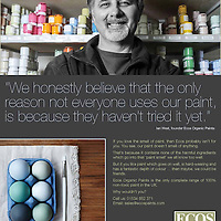 Ian West Managing Director of ESOS Paints in Lancaster in one of their latest adverts