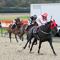 Millibar and Daryll Holland winning the 1.30 race