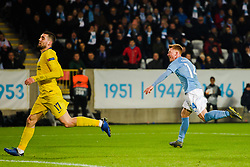 February 14, 2019 - MalmÅ, Sweden - 190214 Anders Christiansen of MalmÅ¡ FF celebrates after scoring 1-2 during the Europa league match between MalmÅ¡ FF and Chelsea on February 14, 2019 in MalmÅ¡..Photo: Petter Arvidson / BILDBYRN / kod PA / 92225 (Credit Image: © Petter Arvidson/Bildbyran via ZUMA Press)