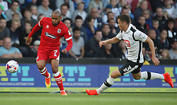 Ashley Chambers of Grimsby Town (L) and Craig Forsyth of Derby County in action - Mandatory by-line: Jack Phillips/JMP - 09/08/2016 - FOOTBALL - iPro Stadium - Derby, England - Derby County v Grimsby Town - EFL Cup First Round