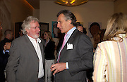 Hugh Hudson and Arnaud Bamberger. Lunch party for Brooke Shields hosted by charles finch and Patrick Cox. Mortons. Berkeley Sq. 6 July 2005. ONE TIME USE ONLY - DO NOT ARCHIVE  © Copyright Photograph by Dafydd Jones 66 Stockwell Park Rd. London SW9 0DA Tel 020 7733 0108 www.dafjones.com