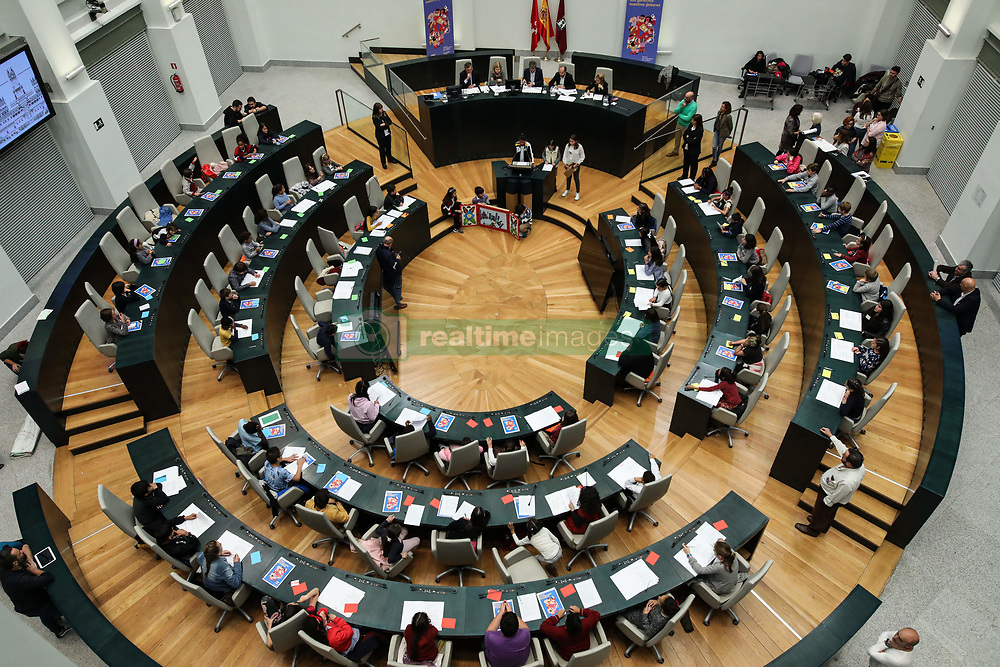 November 19, 2018 - Madrid, Spain - In this session, the girls and boys of the city will make their requests to the Consistory to exercise the right to participation, included in article 12 of the Convention on the Rights of the Child on Nov 19, 2018 in Madrid, Spain (Credit Image: © Jesus Hellin/ZUMA Wire)