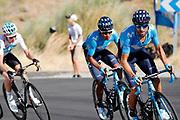 Alejandro Valverde (ESP - Movistar), Nairo Quintana (COL - Movistar) during the UCI World Tour, Tour of Spain (Vuelta) 2018, Stage 2, Marbella - Caminito del Rey 163.5 km in Spain, on August 26th, 2018 - Photo Luis angel Gomez / BettiniPhoto / ProSportsImages / DPPI