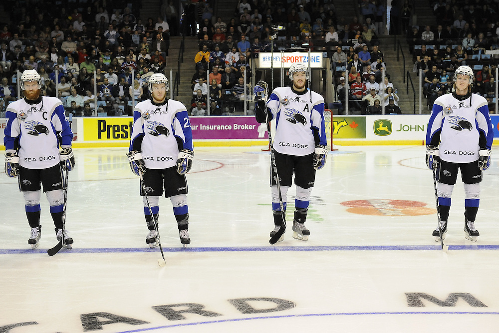 The opening game of the 2011 MasterCard Memorial Cup in Mississauga, ON between the Saint John Sea Dogs and Mississauga St. Michael's Majors. Photo by Aaron Bell/CHL Images