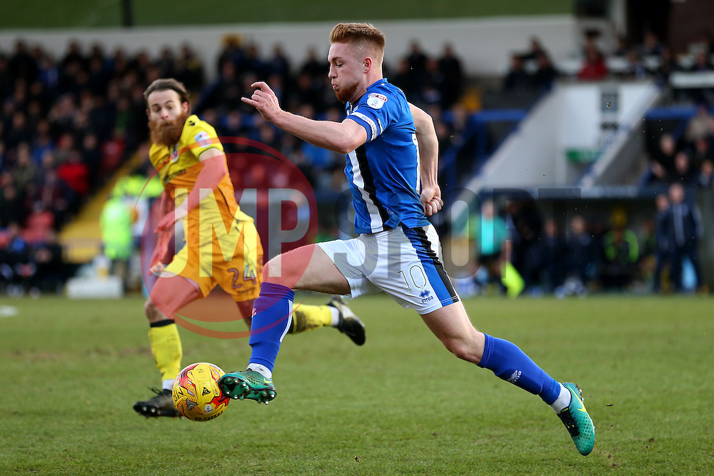 Callum Camps of Rochdale and Stuart Sinclair of Bristol Rovers - Mandatory by-line: Matt McNulty/JMP - 04/02/2017 - FOOTBALL - Crown Oil Arena - Rochdale, England - Rochdale v Bristol Rovers - Sky Bet League One