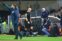 Changement arbitre - Sebastien MOREIRA - 07.02.2015 - Montpellier / Lille - 24eme journee de Ligue 1<br /> Photo : Nicolas Guyonnet / Icon Sport